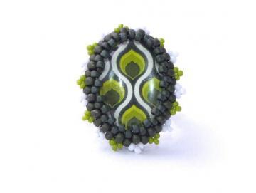 Ring Retro grün